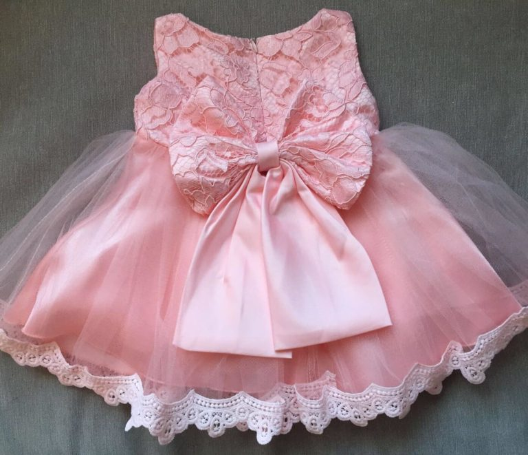 Princess Bow Dress back