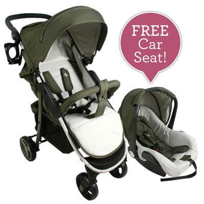 Believe by Katie Piper My Babiie Olive Pushchair & Car Seat