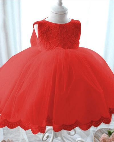 Princess Bow Dress Red