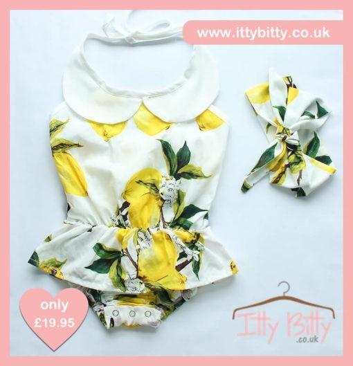 Itty Bitty 3 Piece Summer Lemon Set