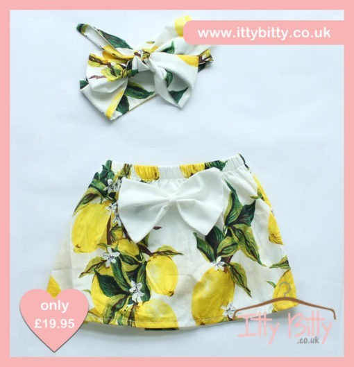 Itty Bitty 3 Piece Vintage Floral Set skirt & Headband