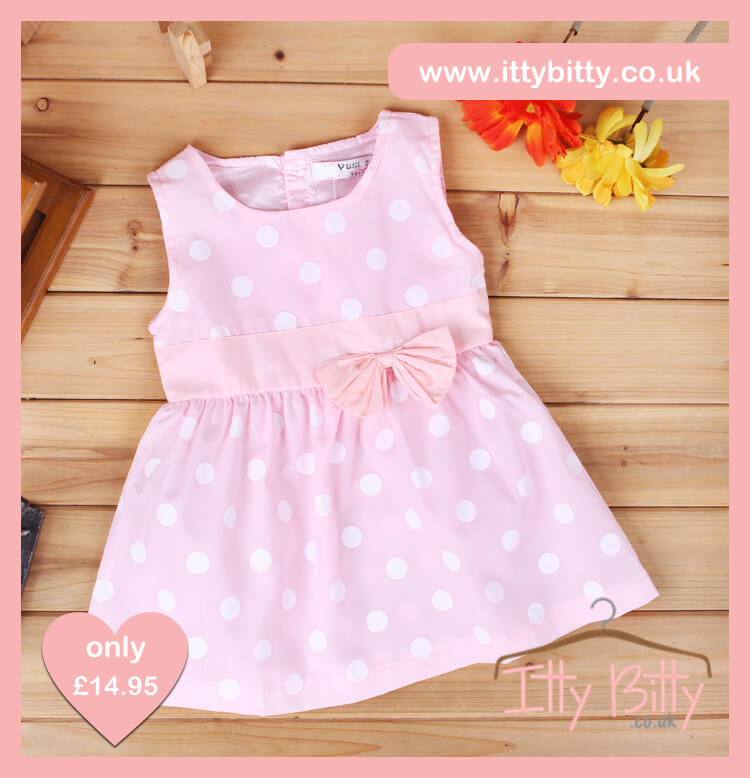 Itty Bitty Pink Round Dots Dress – Baby Boutique Clothing a671c4e656ce