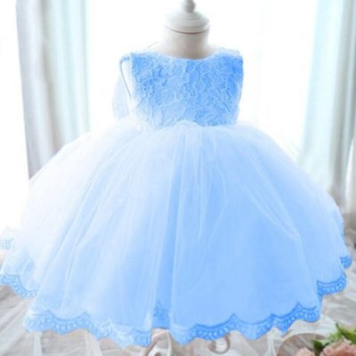 Blue Princess Bow Dress