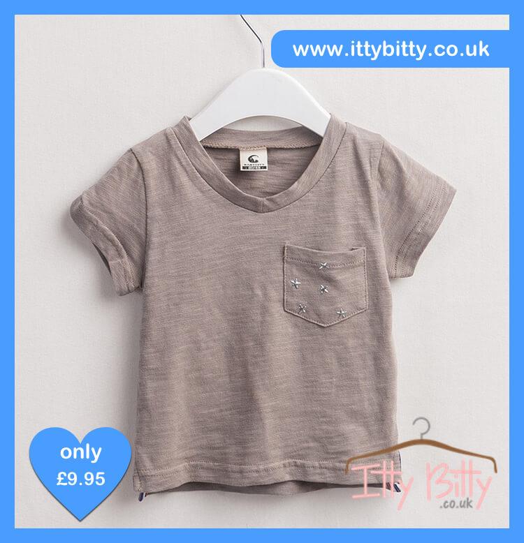 Itty BItty Star pattern pocket short sleeve T Shirt