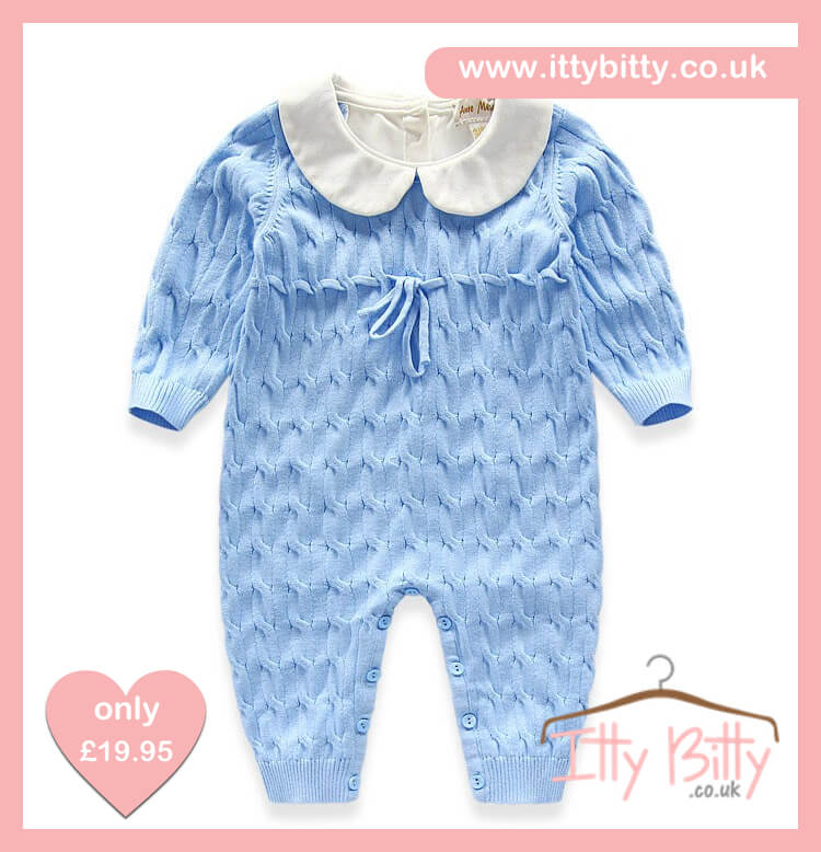 Itty Bitty Blue Spanish Romper - Baby Boutique Shop