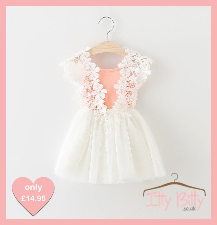 Itty bitty flower power dress baby boutique shop