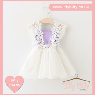 Itty Bitty lilac Flower Power Dress