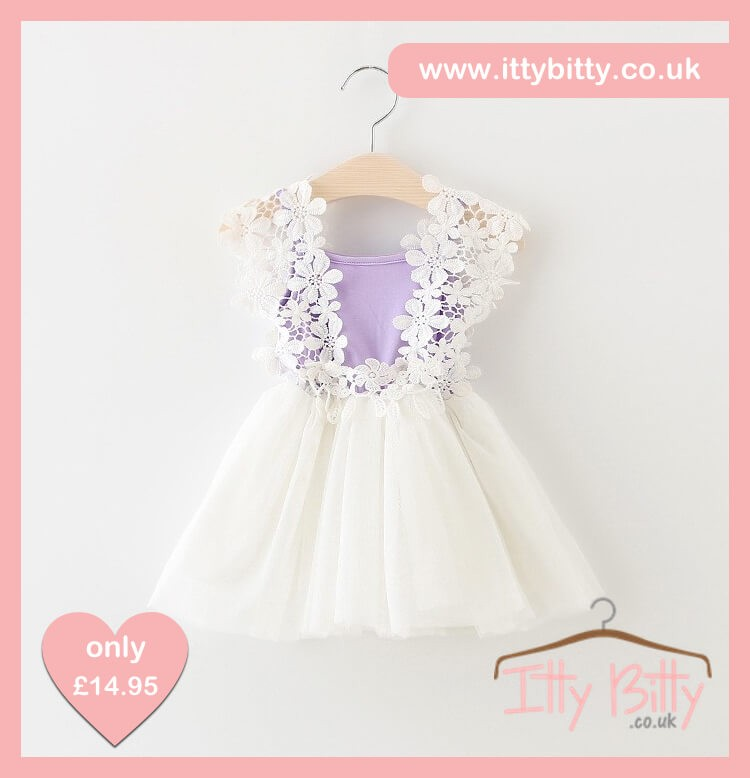 Itty Bitty lilac Flower Power Dress