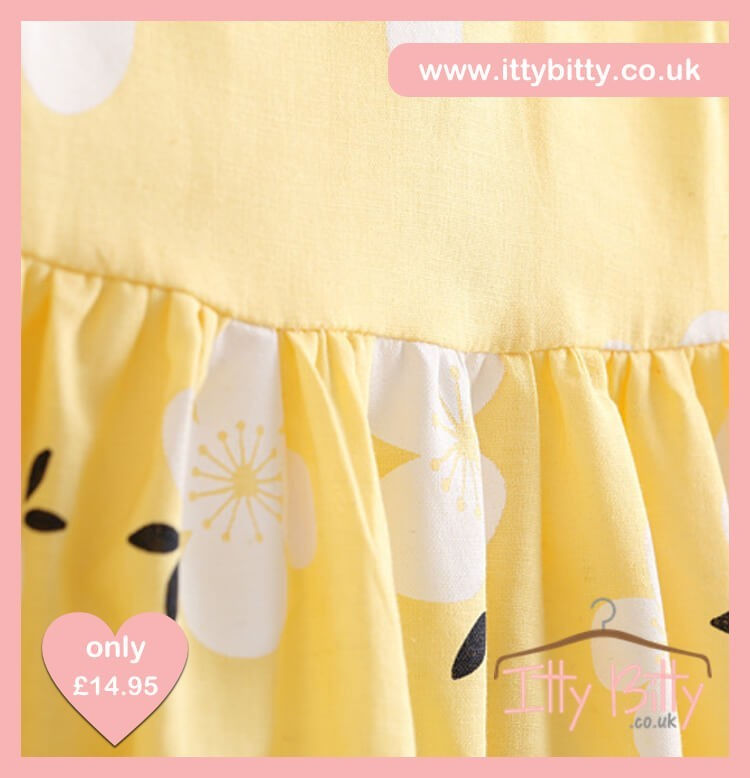 Itty Bitty Yellow Lei Flower Dress