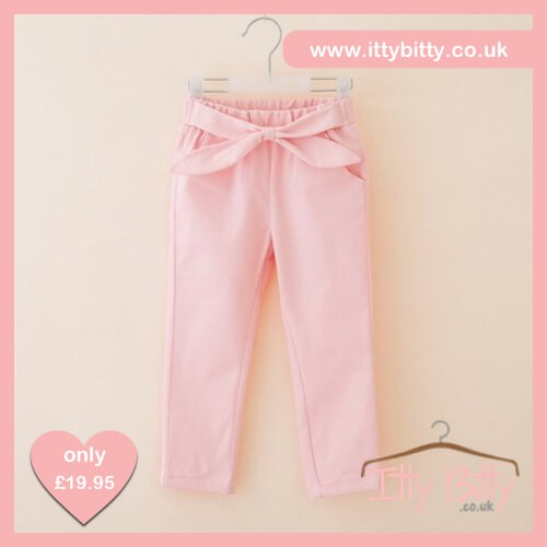 Itty Bitty Pink Bow Jeans