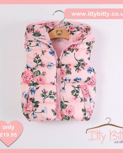 Itty Bitty Pink Floral Gilet