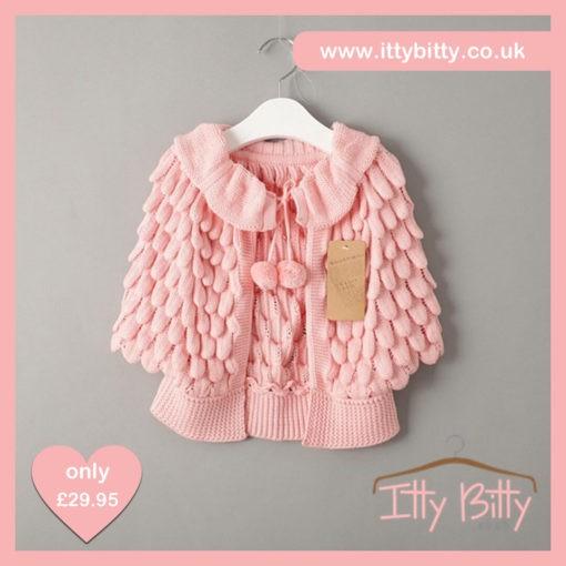 Itty Bitty Pink Petal Knitted Sweater