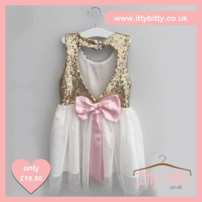 Itty Bitty Christmas Sparkle Bow Dress