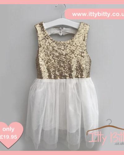 Itty Bitty Christmas Sparkle Bow Dress