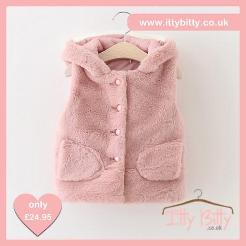 Itty Bitty Autumn Pink Cute Cat Gilet