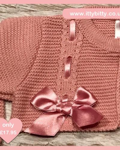 Itty Bitty Pink Bow Spanish Bolero