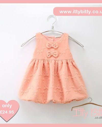 Itty Bitty Pink Bow Autumn Baggy Dress