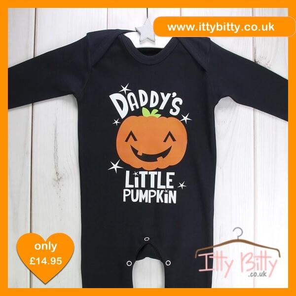 Itty Bitty Halloween Daddy's Little Pumpkin sleepsuit