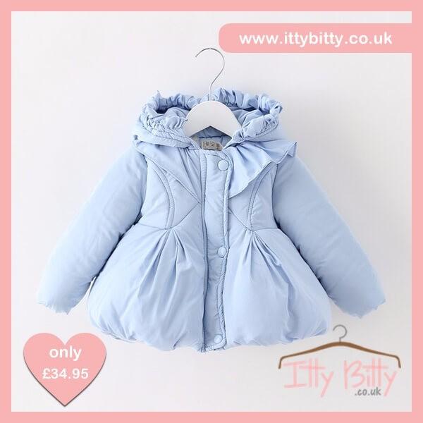 Itty Bitty Baby Blue Winter Snuggle Coat