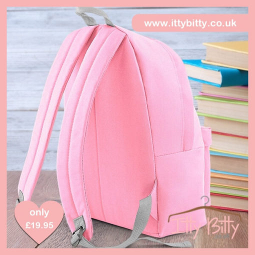 Itty Bitty Unicorn Personalised Pink Backpack