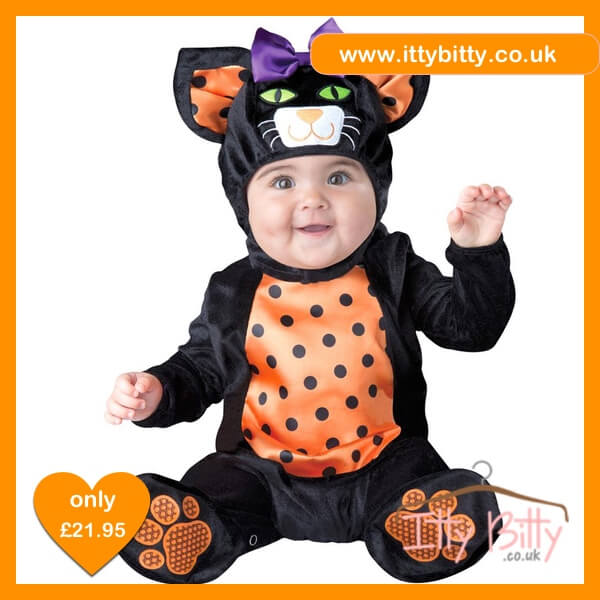 "Itty Bitty Halloween ""Mini Meow"" Cat Costume"