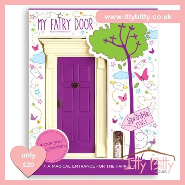 Itty bitty purple magic fairy door baby boutique shop for Purple fairy door