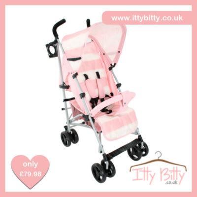 2016 Billie Faiers MB01 Pink Stripe Stroller