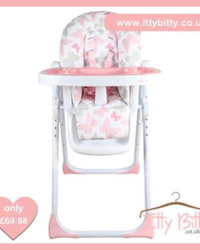 Believe by Katie Piper Premium Pink Butterflies Highchair