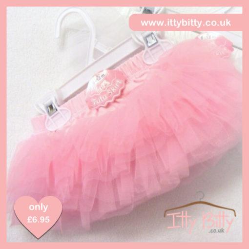 Itty Bitty Pink Baby Tu Tu Skirt