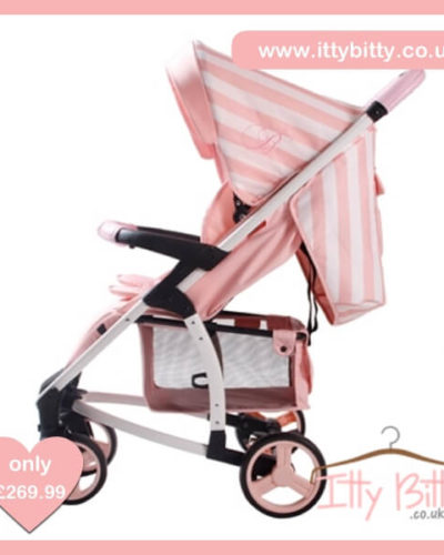 Billie Faiers MB100+ Pink Stripes Travel System