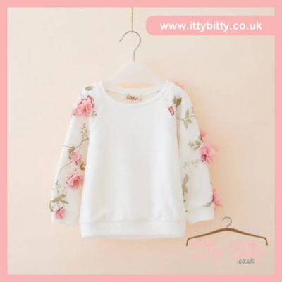 Itty Bitty 3D flower jumper