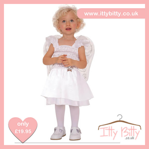 Itty Bitty Silver Christmas Little Angel Girls Costume – Baby Boutique  Clothing 148d6c884e6e