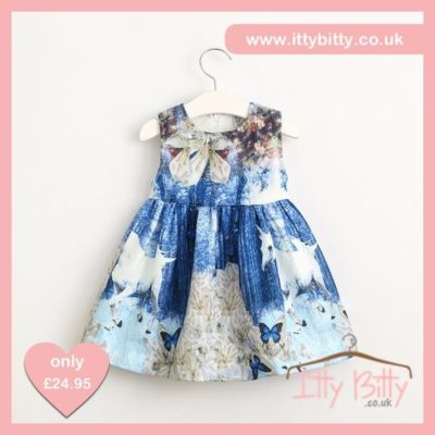 Itty Bitty 2017 Blue Unicorn Print Dress