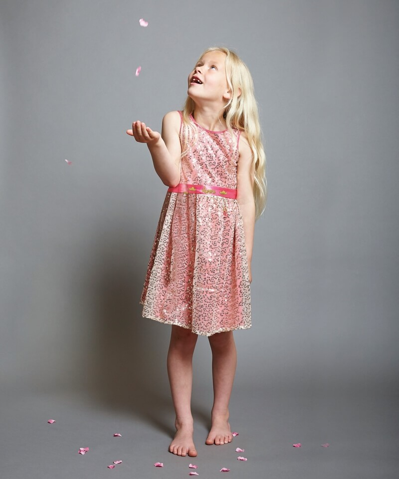 1ef8ec98bac Disney Boutique Sleeping Beauty Aurora Pink   Gold Sequin Dress – Baby  Boutique Clothing