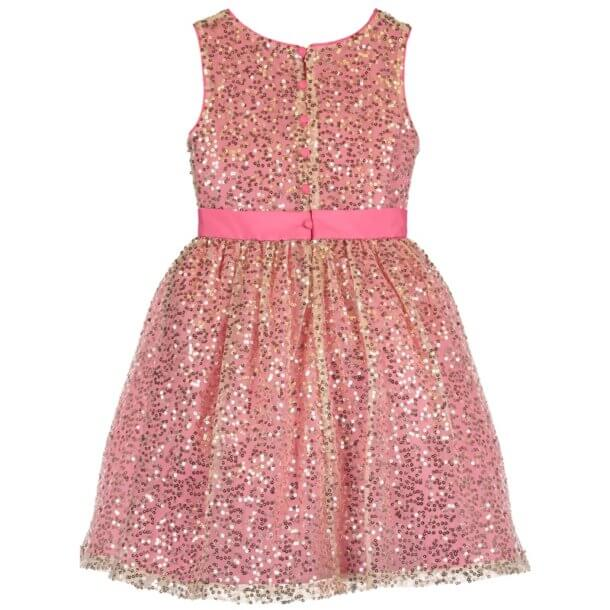 Disney Boutique Sleeping Beauty Aurora Pink & Gold Sequin Dress