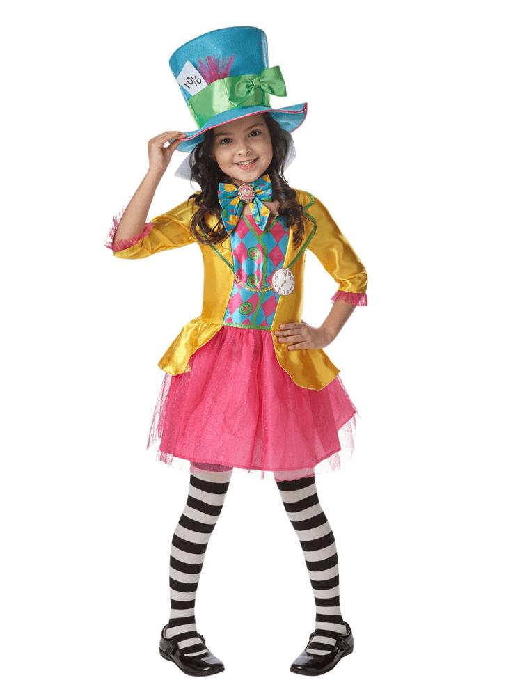 Disney Alice in Wonderland Mad Hatter Girl Child Costume ...