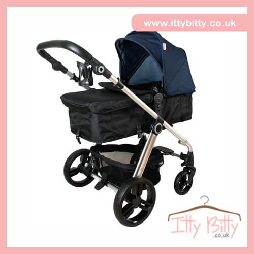 billie faiers my babiie mb150bd denim pram baby boutique. Black Bedroom Furniture Sets. Home Design Ideas