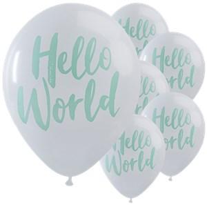 Itty Bitty Baby Shower Hello World Balloons