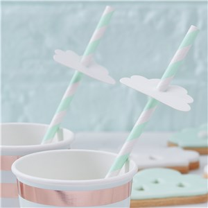 Itty Bitty Baby Shower Hello World Paper Straws