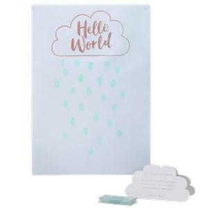 Itty Bitty Baby Shower Hello World Rose Gold Fingerprint Guest Book