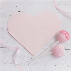 Itty Bitty Party Princess Perfection Heart Shaped Paper Napkins - 20pk