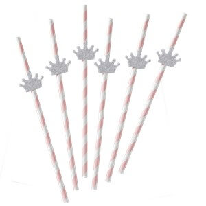 Itty Bitty Party Princess Perfection Paper Straws with Flags