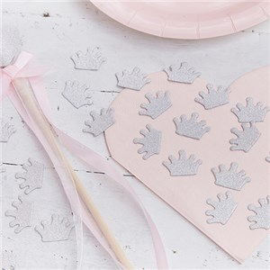 Itty Bitty Party Princess Perfection Silver Glitter Table Confetti