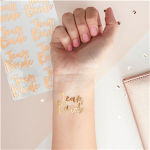 Itty Bitty Team Bride Rose Gold Team Bride Temporary Tattoos