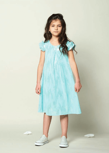Disney Boutique Elsa Frozen Aqua Sequin Dress
