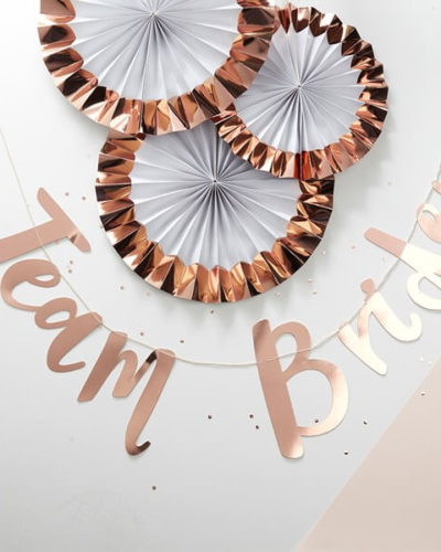 Itty Bitty Team Bride Rose Gold Paper Bunting