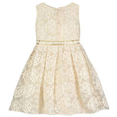 Disney Boutique Collection Belle - Cream Embroidered Roses with Pleated Skirt