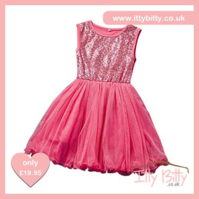 Itty Bitty Pink Summer Sequin Princess Party Tutu Dress
