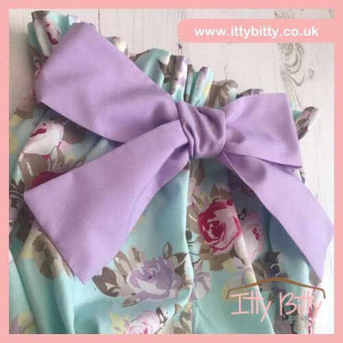 Itty Bitty Handmade Lila statement bow bloomer shorts