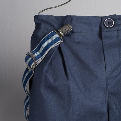 Boys Boutique Striped suspenders in blue tones